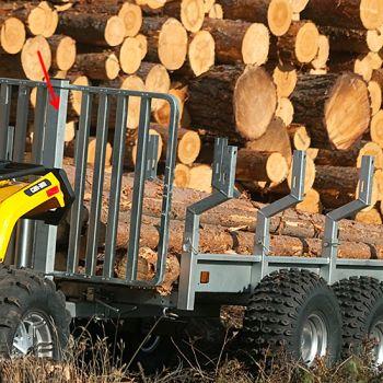 Paroi de maintien pour le transport de bois