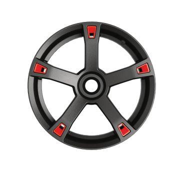 Accents pour roues - Rouge adrénaline