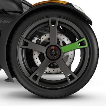 Décalques pour roues - Vert supersonique