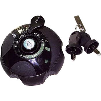 Lockable vehicle fuel cap